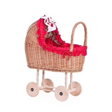 Doll play pram, Wicker doll pram with fabric