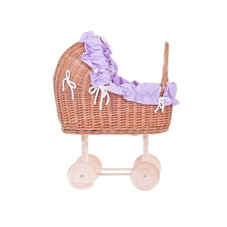 doll carriage with bedding