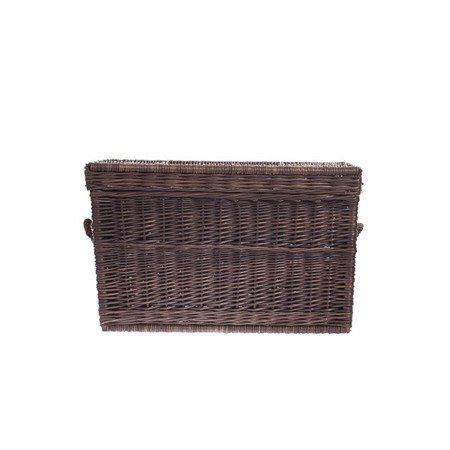 Brown wicker storage basket