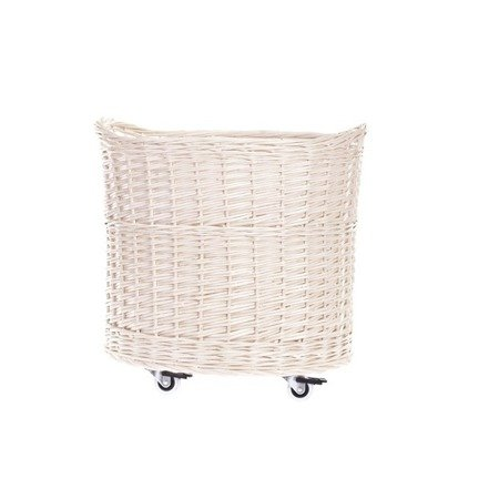 Shabby chic wicker storage basket