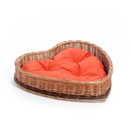 Wicker Animal Bed with Pillow
