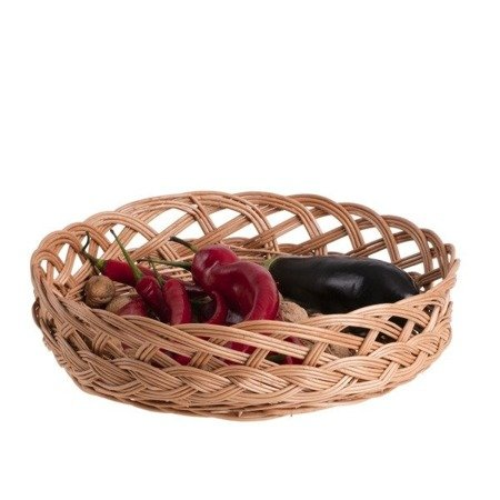 Wicker kitchen storage basket