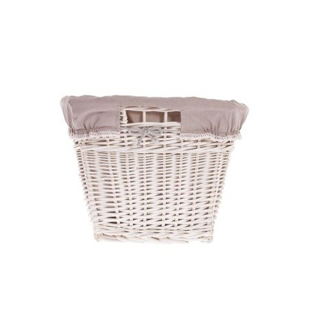 Wicker laundry bin