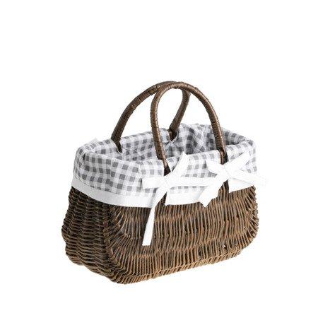 Pleciona torebka wiklinowa brązowa
